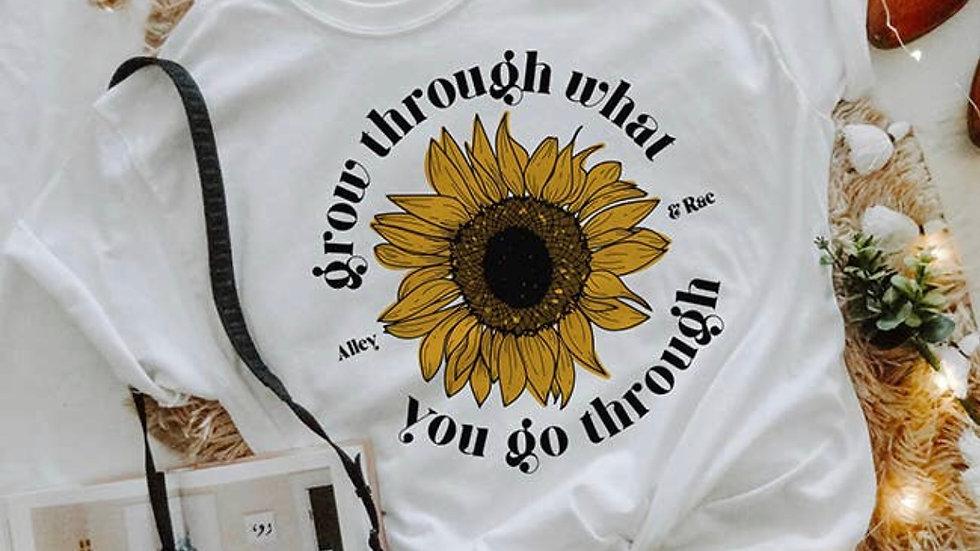 Grow through t shirt