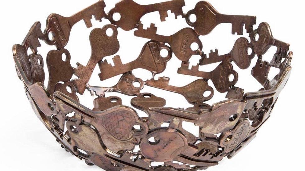 Recycled iron key bowl