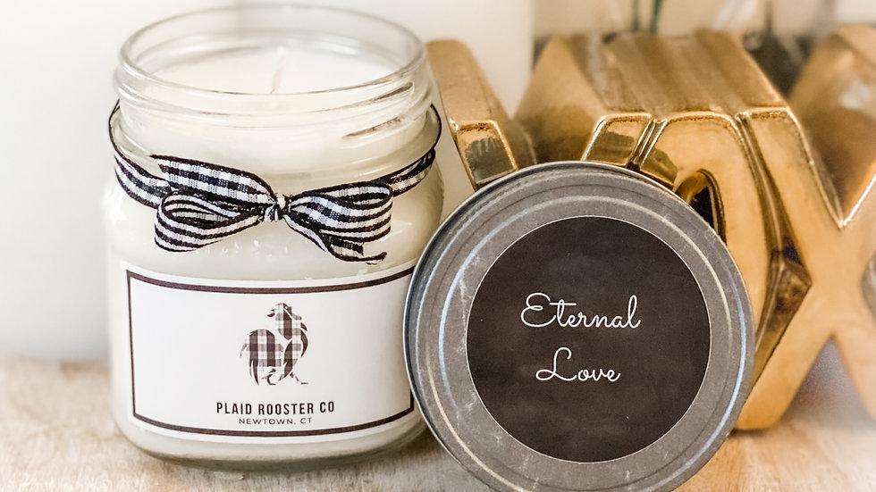 Plaid Rooster Co Eternal Love Candle - 8oz mason jar