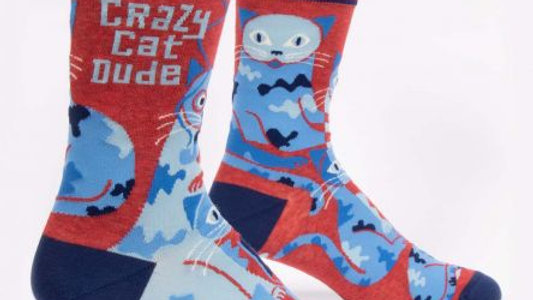 Crazy Cat Dude Socks