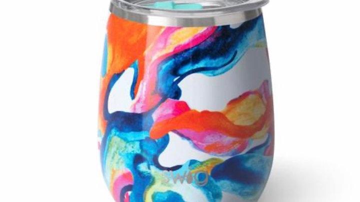 Swig 14oz stemless wine tumbler (color swirl)