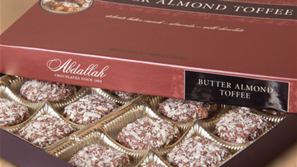 Butter Almond Toffee (1 lb box)