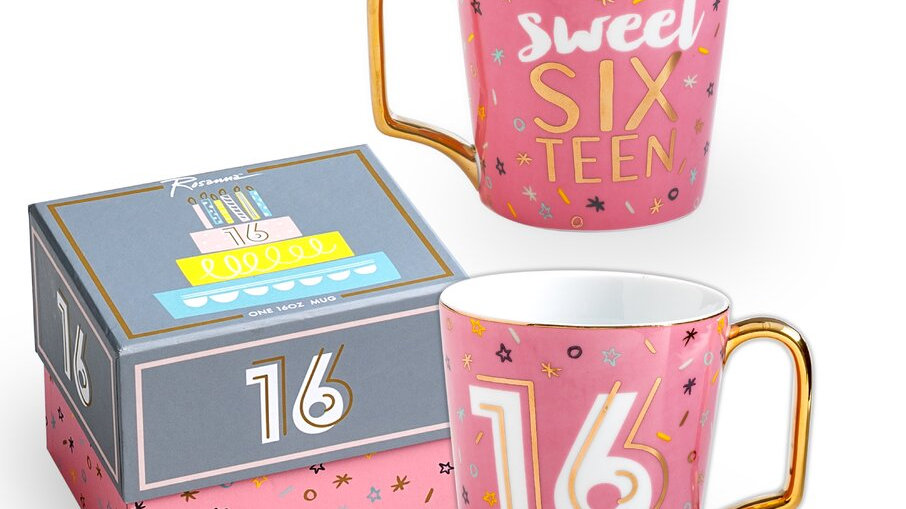 16 milestone birthday mug with gift box