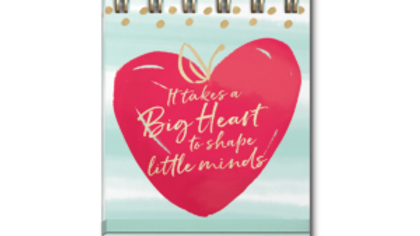 It takes a big heart to shape little minds notebook
