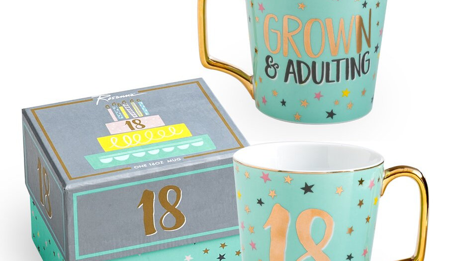 18 milestone birthday mug with gift box