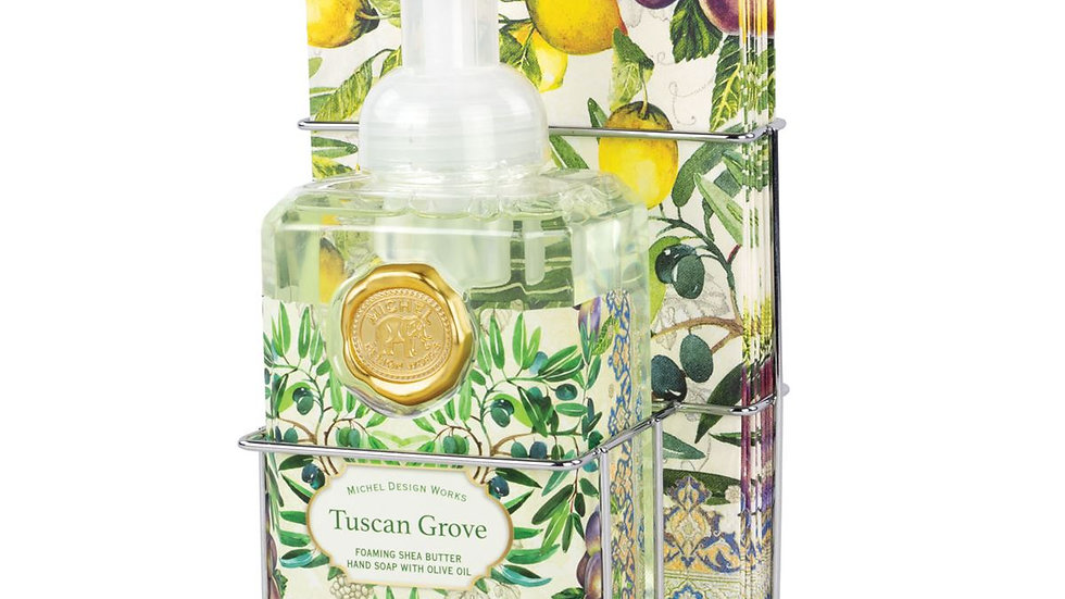 Tuscan Grove Foaming Soap & Hostess Napkin Set