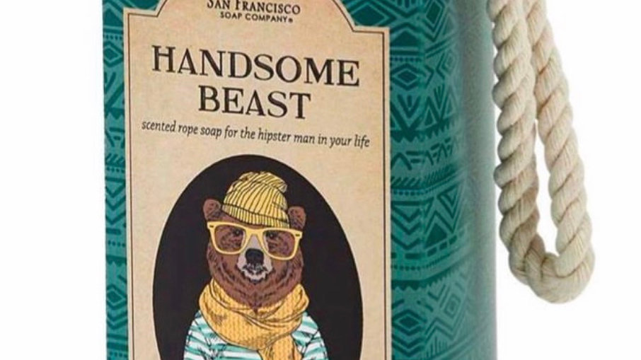 Handsome Beast Soap on a Rope