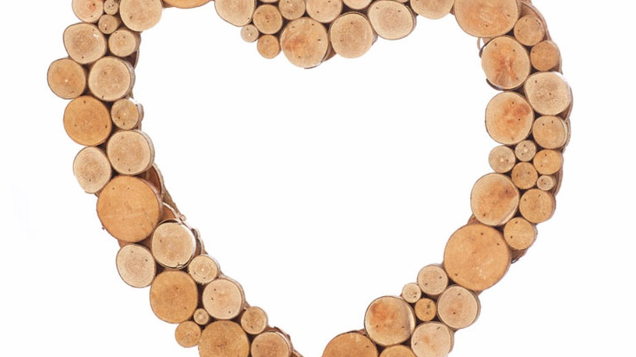 Heart Shaped wood wreath