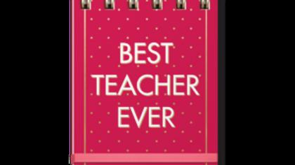 Best Teacher Ever Spiral notebook