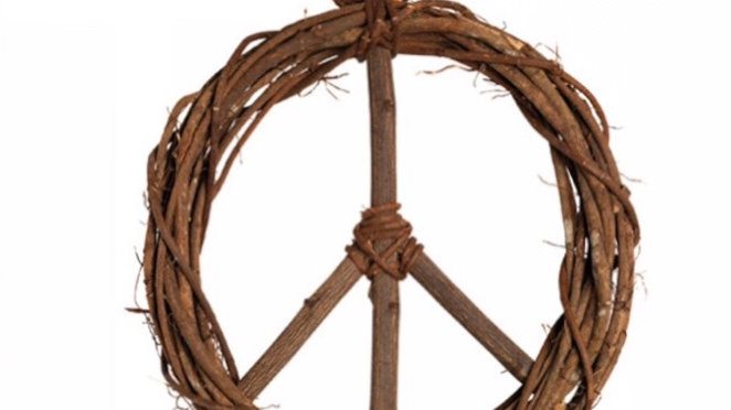 Peace twig wreath