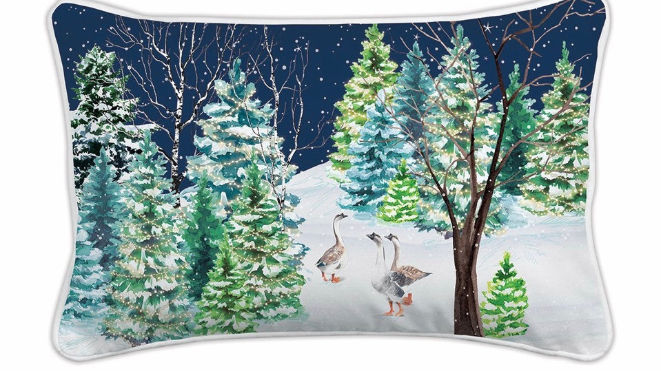 Michel DesignChridtmas Snow Back pillow