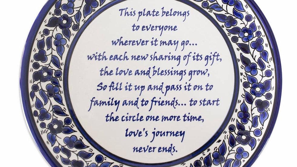 Handmade fair trade Giving Plate