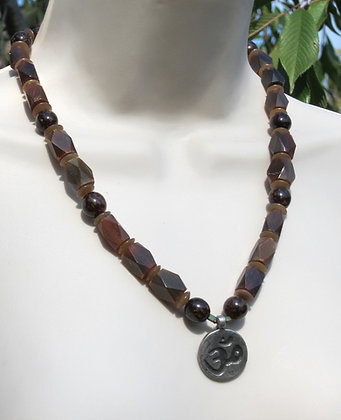 Horn and Seed Ohm Necklace (Unisex)