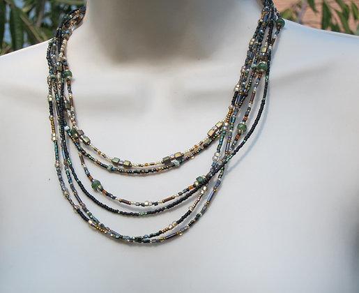 Autumn Gold Multi-strand Necklace