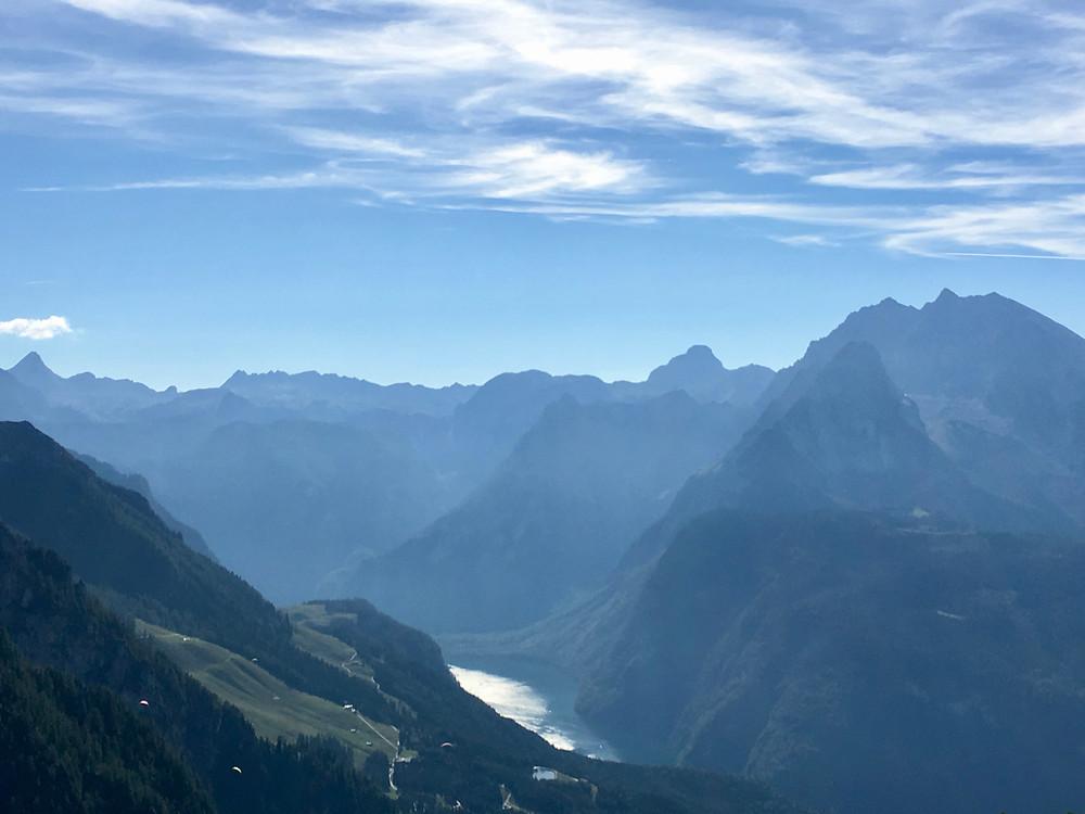 Parque Nacional de Berchtesgaden com o Königssee ao fundo
