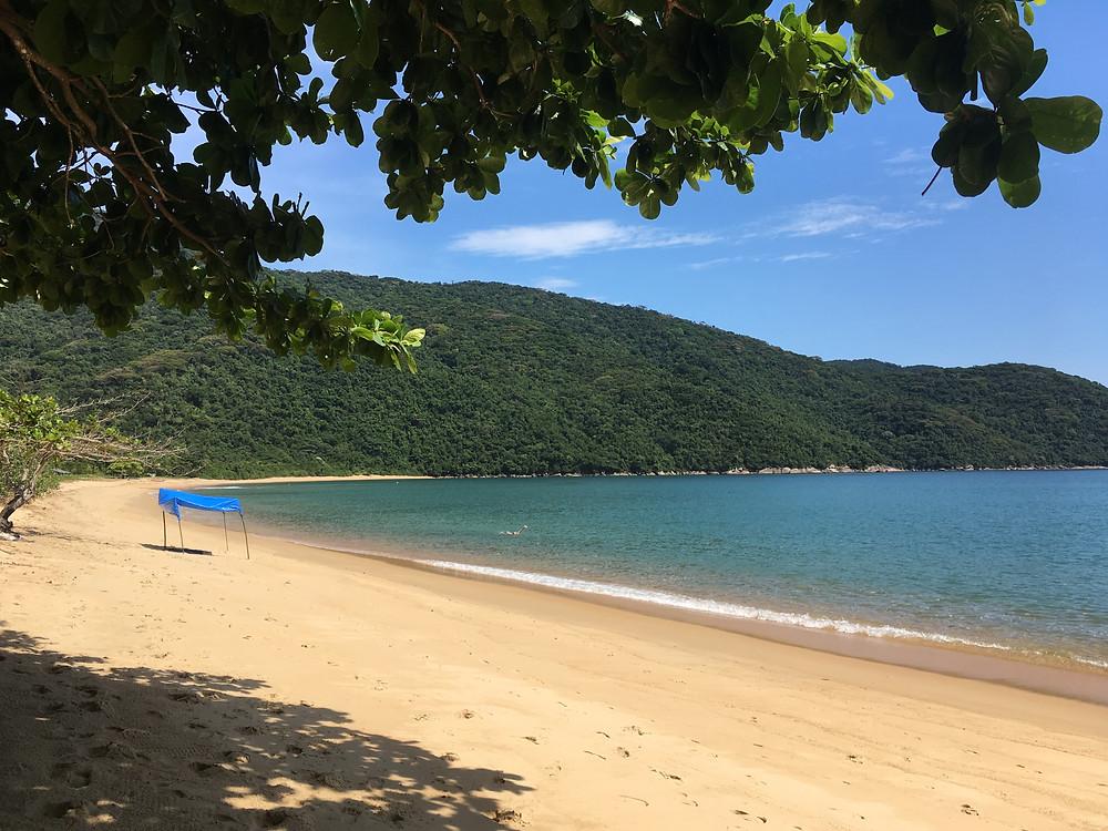 O paraíso da Praia Grande da Cajaíba