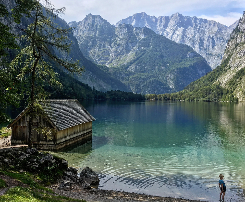 Vista tipo cartão postal do Obersee