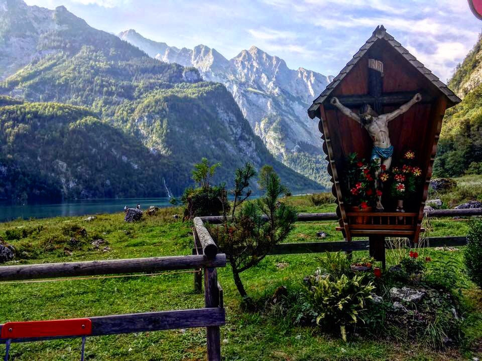 No caminho para o Obersee na Bavaria