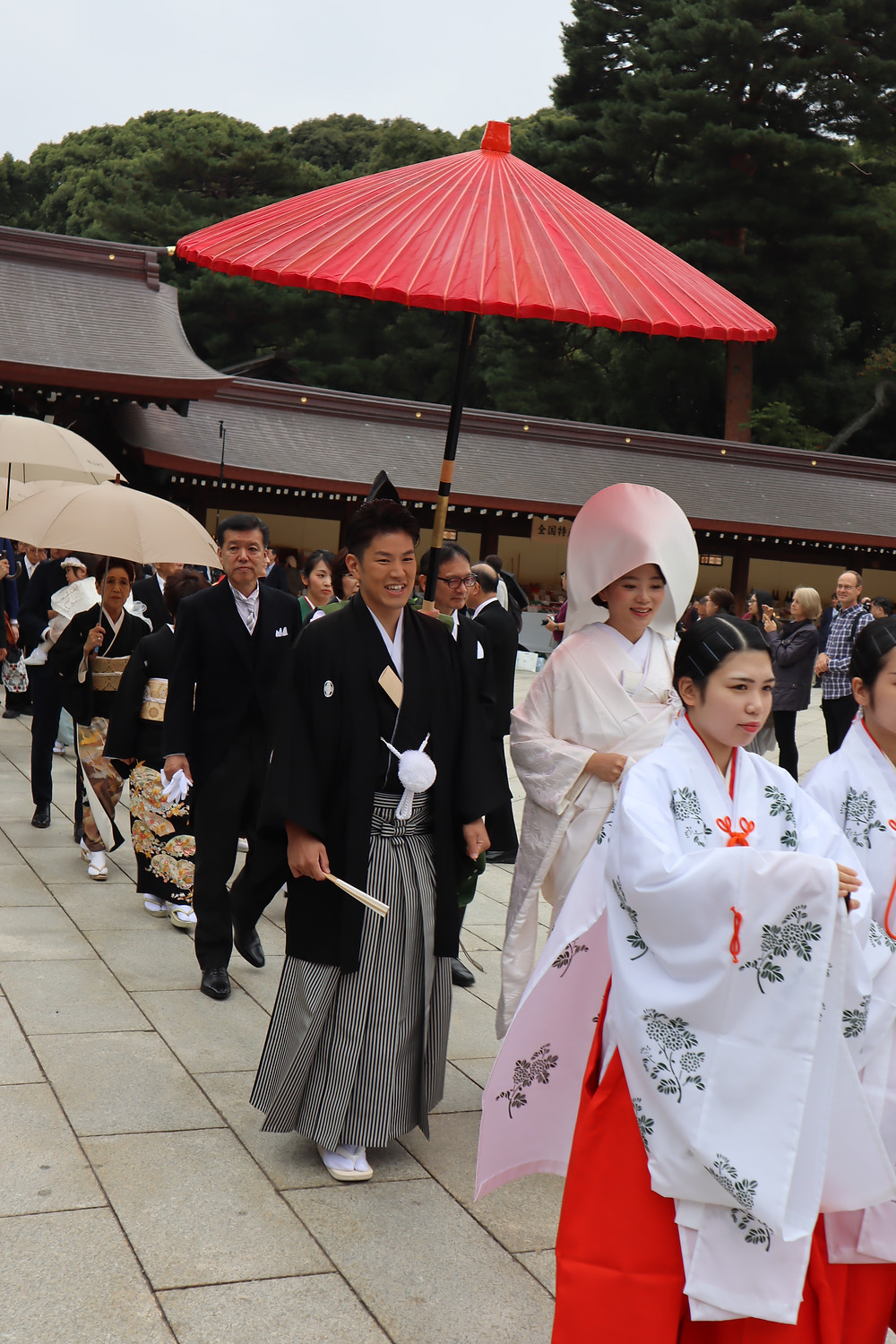Casamento no Meiji Jingu Shrine