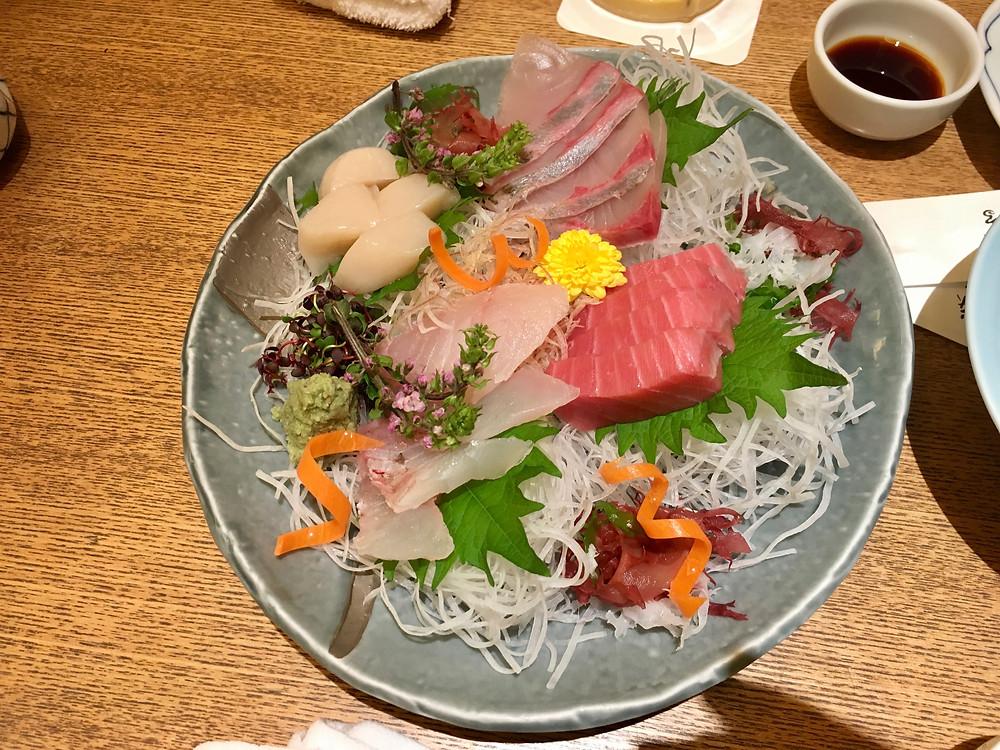 Sashimi em Tóquio