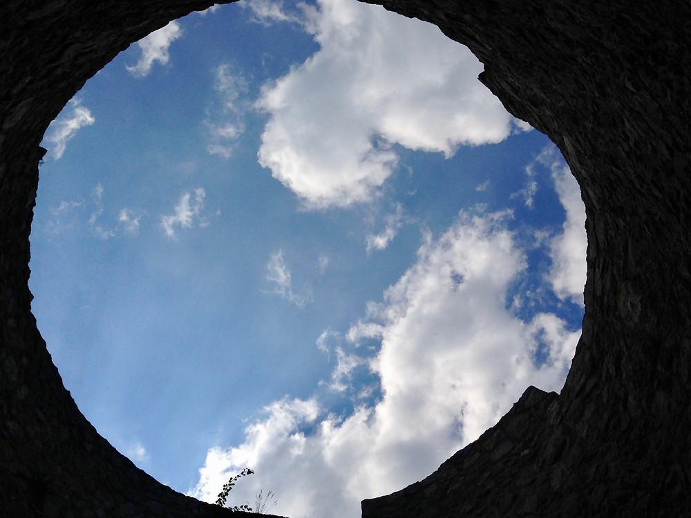 Interior de uma ruina