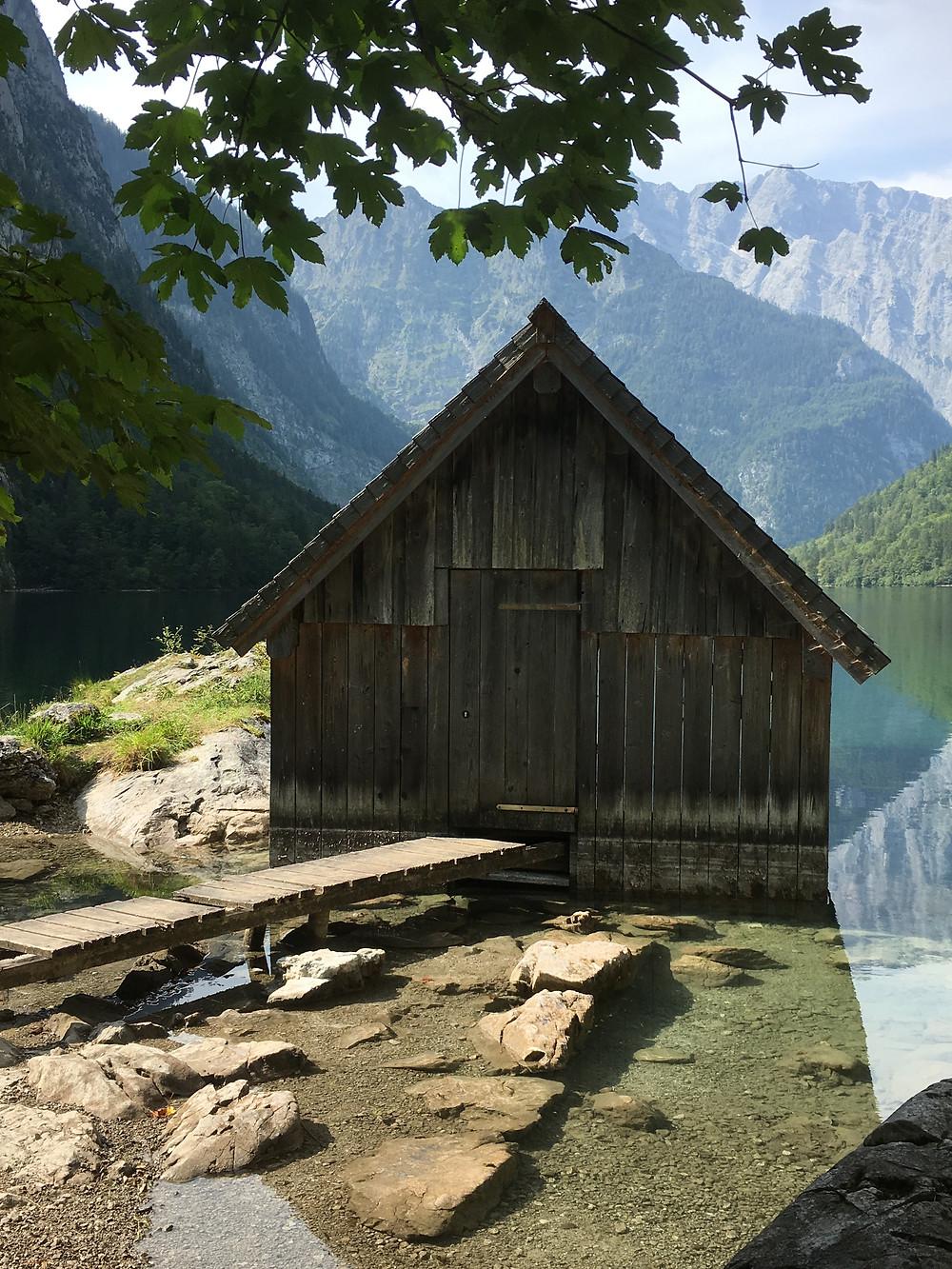 Cabana de barco no Obersee