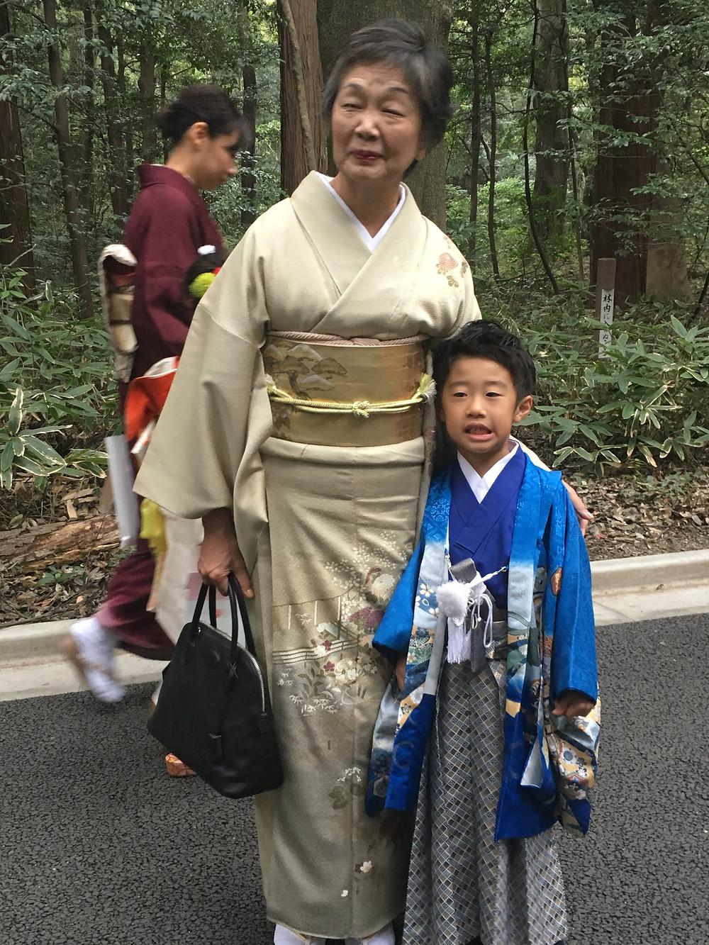 Família japonesa santuário Meiji