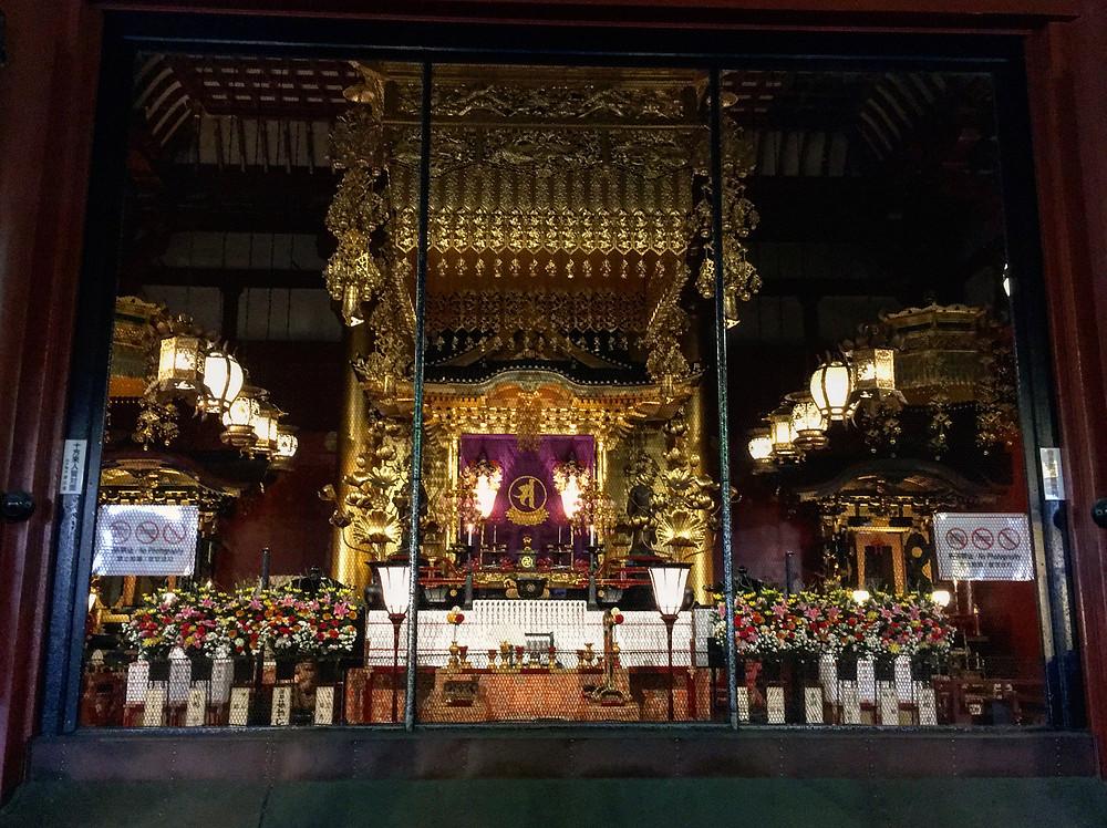 Altar de Kannon no templo Sensõ-ji