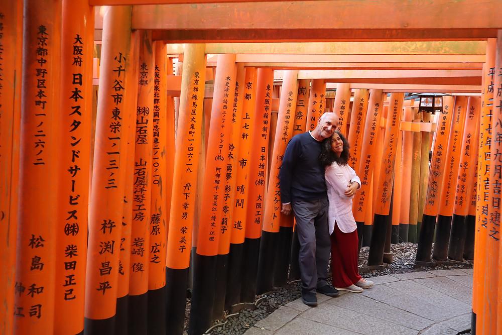Nosso momento no Fushimi Inari