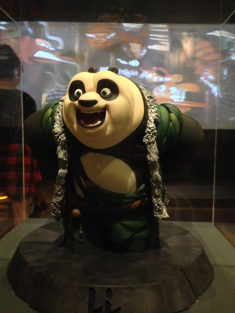 Modelo Kung Fu Panda na exposição DreamWorks