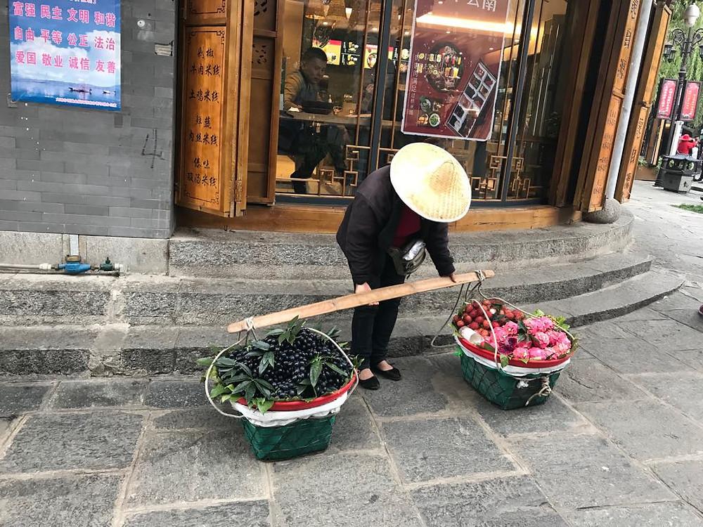 O vendedor em Yunnuan