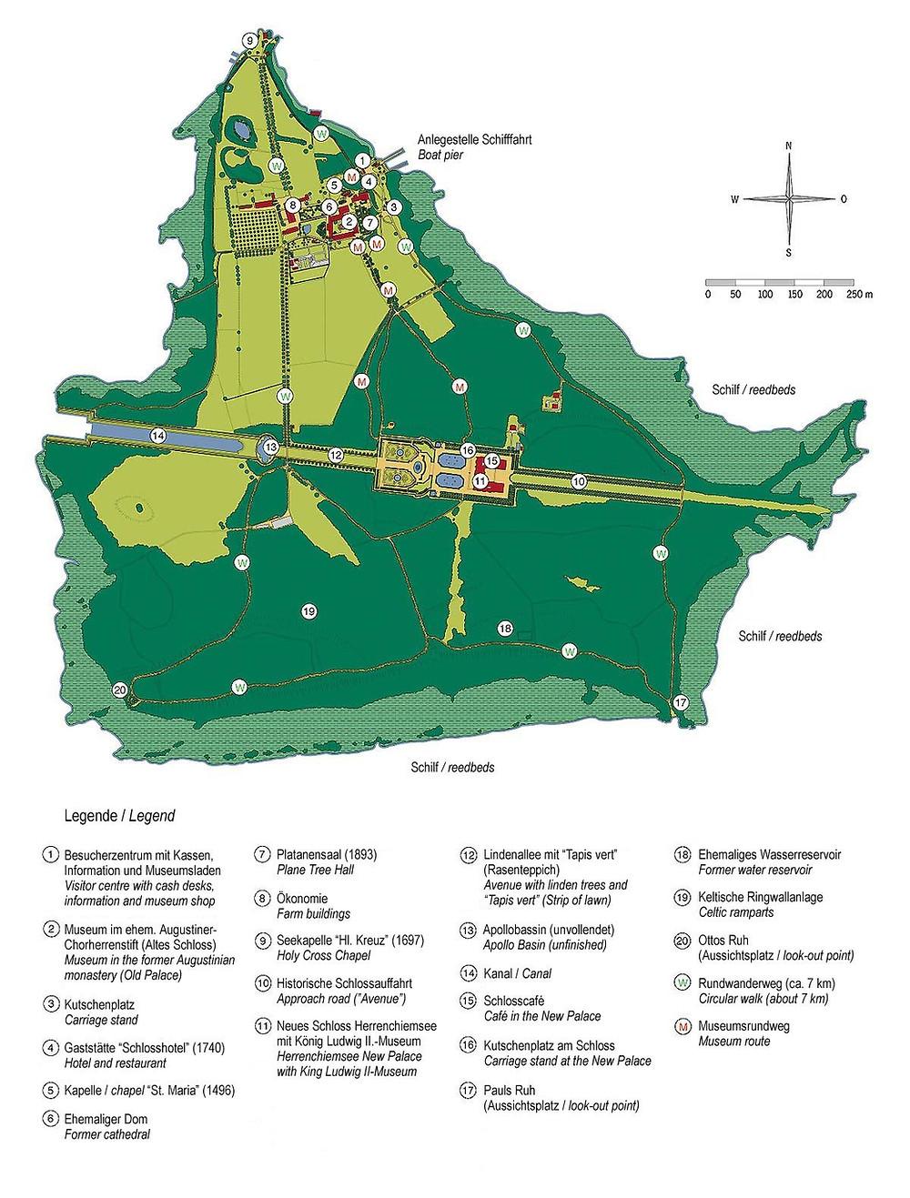 Plano da ilha Herrenisel