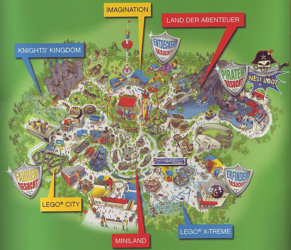 Map Legoland Deutschland