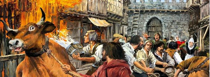 The fire of 1480 in Elorrio