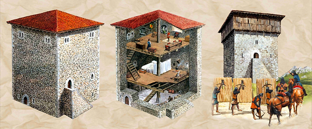 Mediaeval tower houses  Elorrio