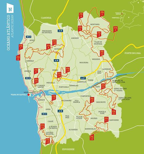 Mapa de Viana do Castelo