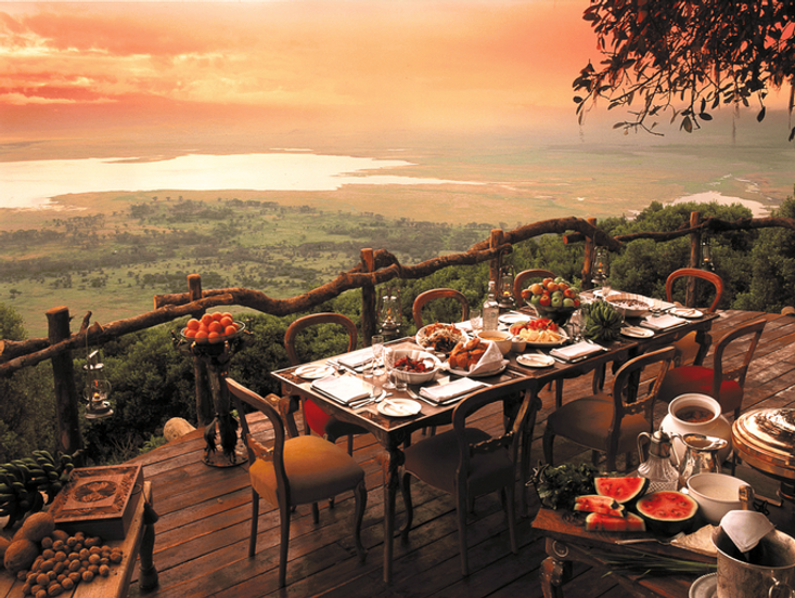 Private Balcony at Crater Lodge at Ngorongoro Crater