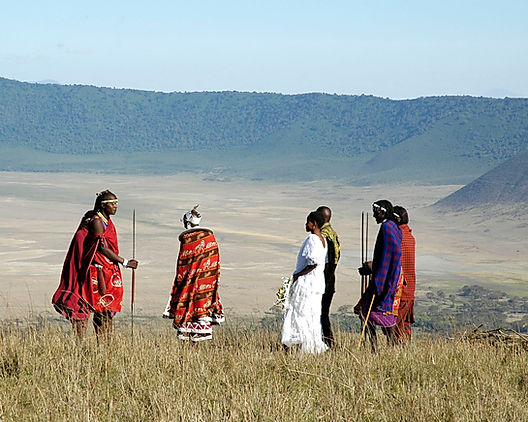 Masai Wedding on rim of Ngorongoro Crater