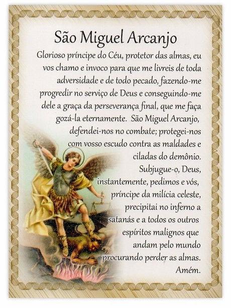 Oracao de São Miguel Arcanjo
