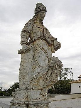 Prophet Daniel's Statue at Congonhas Sanctuary of Bom Jesus, Minas Gerais, Brazil