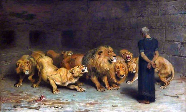 'Daniel in the Lion's Den' by Briton Rivière, 1872
