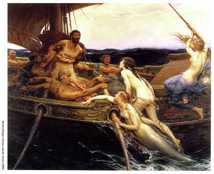 'Ulysses and the Sirens' by Herbert James Draper (1863-1920)