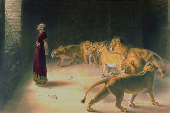 Daniel Answer To The King In The Lion's Den By Briton Rivière