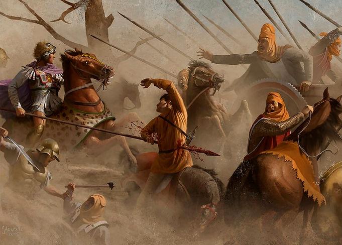 Alexander Mosaic Reconstruction [Alexander battling Darius at the Battle of Issus]