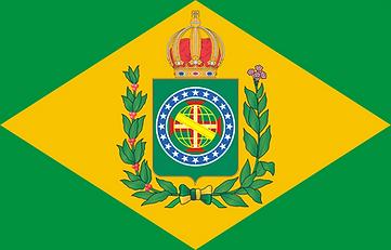 Bandeira do Império do Brasil com nó em heráldica correta (25/08/2021)