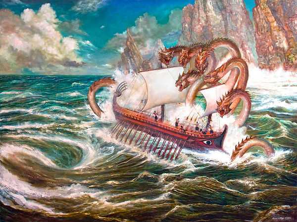 Odysseus and Scylla by PinkParasol on DeviantArt