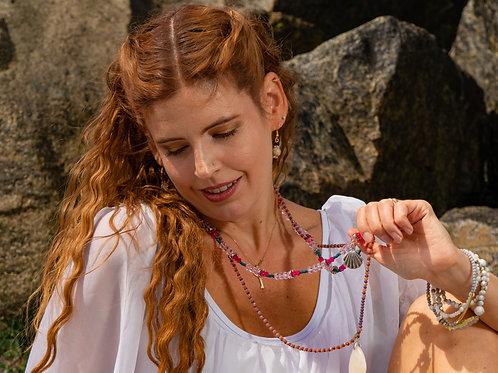 Pattern Crystal Necklace