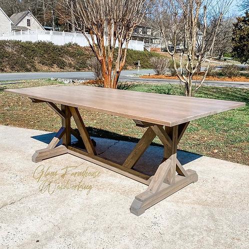 Trestle X Rectangular Table