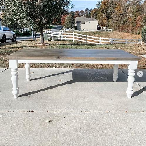 Chunky Leg Rectangular Table