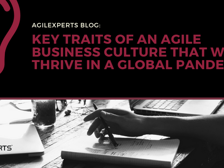 KEY TRAITS OF AN AGILE BUSINESS CULTURE THAT WILL THRIVE IN A GLOBAL PANDEMIC